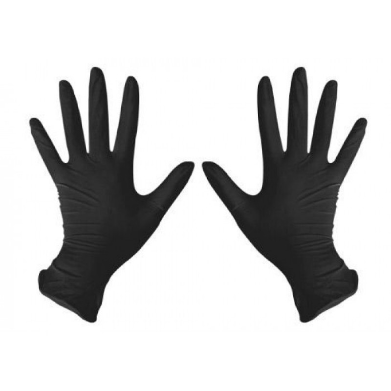 "Gloves BLACK nitrile without powder ""Igar Nitrile"" 100 pairs"