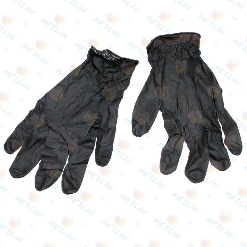 Нітрилові чорні рукавички SafeTouch® Advanced Black