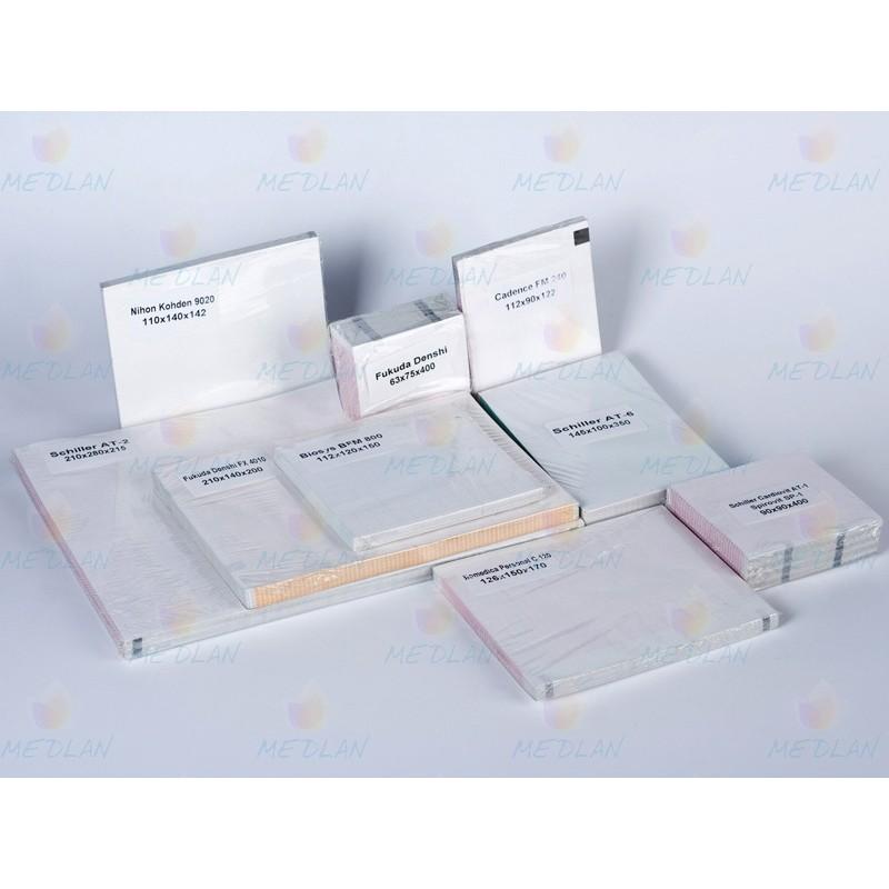 Термопапір складається в пачках для ЕКГ та фетальних моніторів