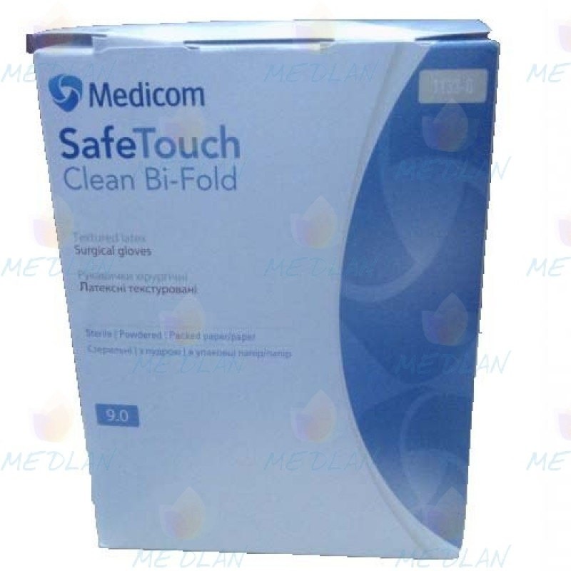 "surgical sterile gloves, powder free ""Safetouch Clean Bi-Fold"""