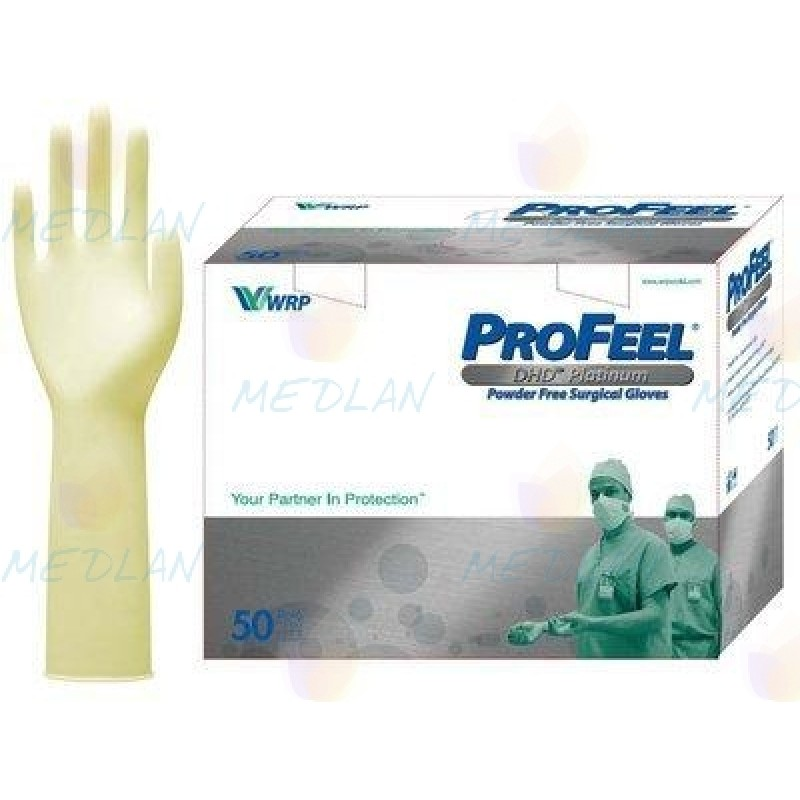 Перчатки хирургические латекс стер. без пудры ProFeel PLATINUM DHD