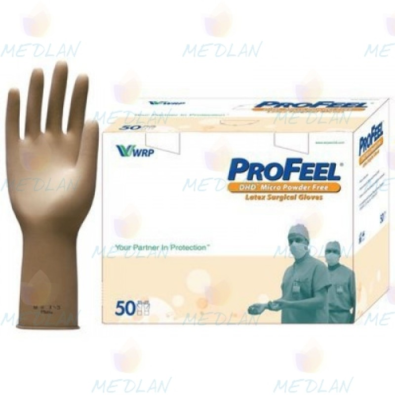 Surgical latex gloves erased. without powder ProFeel MICRO DHD