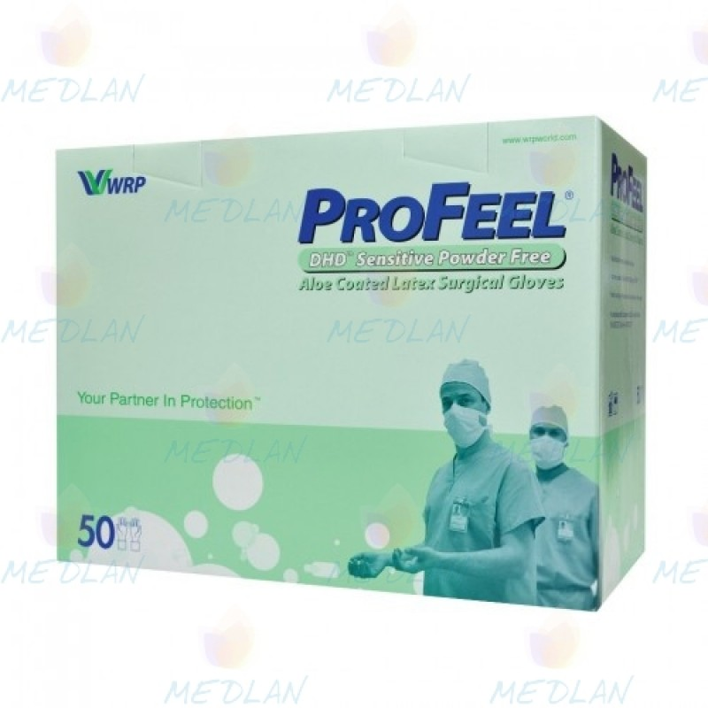Latex surgical sterile gloves without powder ProFeel SENSITIVE DHD