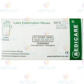 """Latex gloves without powder """"MEDICARE"""""""