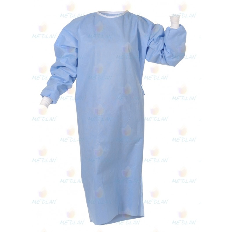 Bathrobe sterile surgical 115 * 140 with ties (hands. Sleeves)