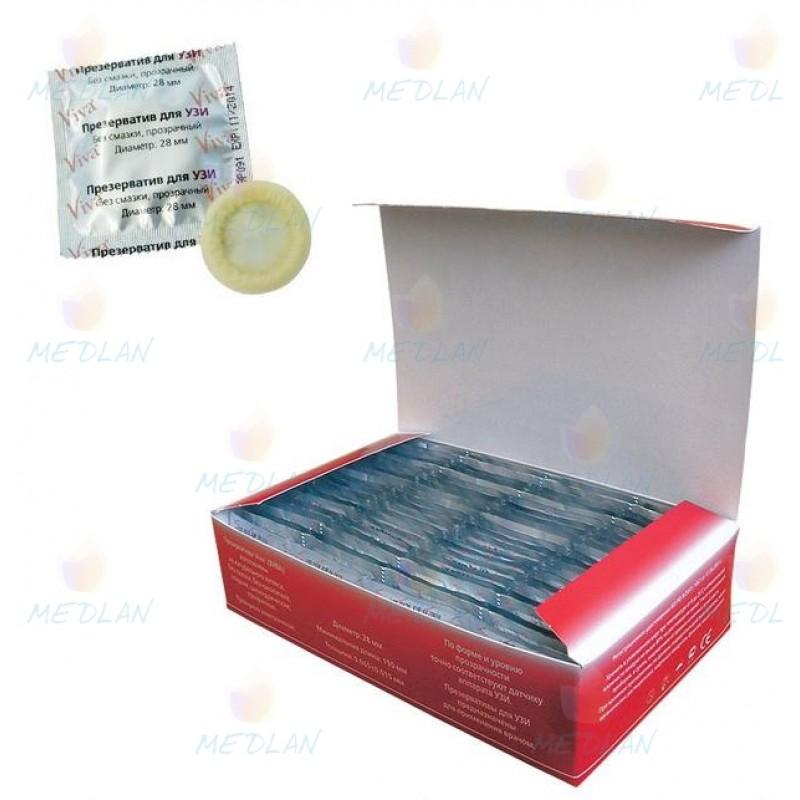 Презервативы для УЗИ VIVA 100 шт.